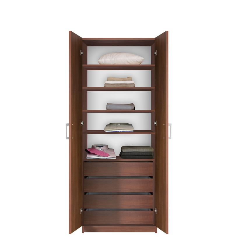 Bella Wardrobe Armoire Modern Bedroom Storage Contempo Space