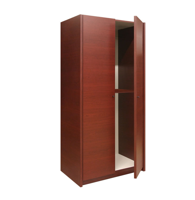 Two Door Mahogany Cabinet Promo With Adjustable Shelf