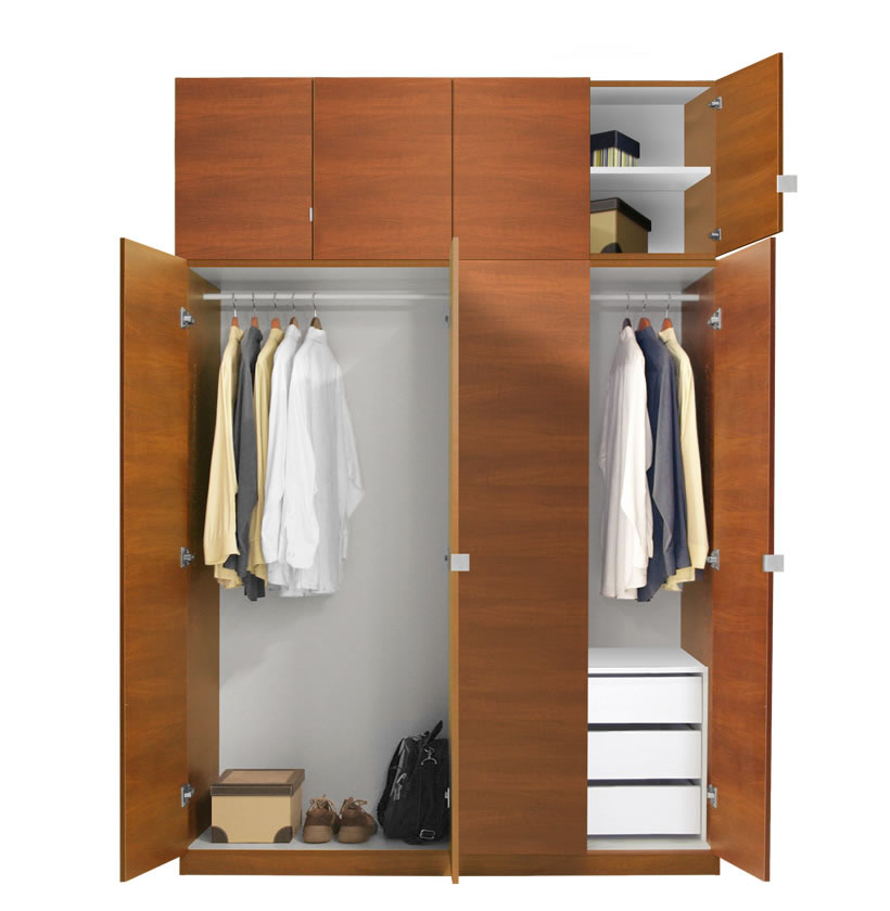Alta wardrobe closet package 3 drawer wardrobe package Short wardrobe with drawers