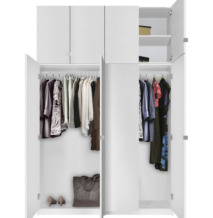 Alta 8 Door Wardrobe Closet Basic Package - Extra Tall ...