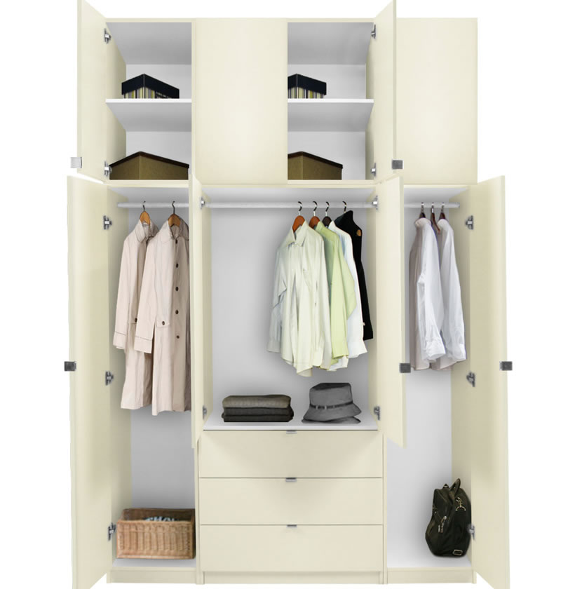 Alta Extra Tall Armoire Plus Closet Package Contempo Space
