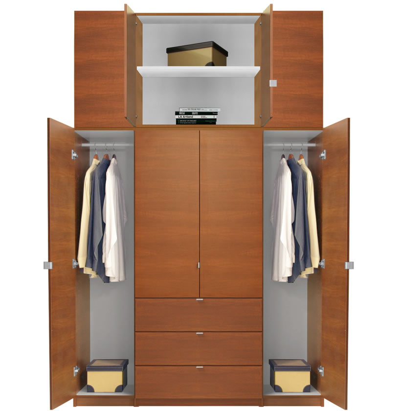 alta extra tall armoire plus closet package contempo space. Black Bedroom Furniture Sets. Home Design Ideas