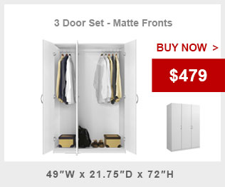 3 Door Wardrobe Closet Package Alta Wardrobe Collection