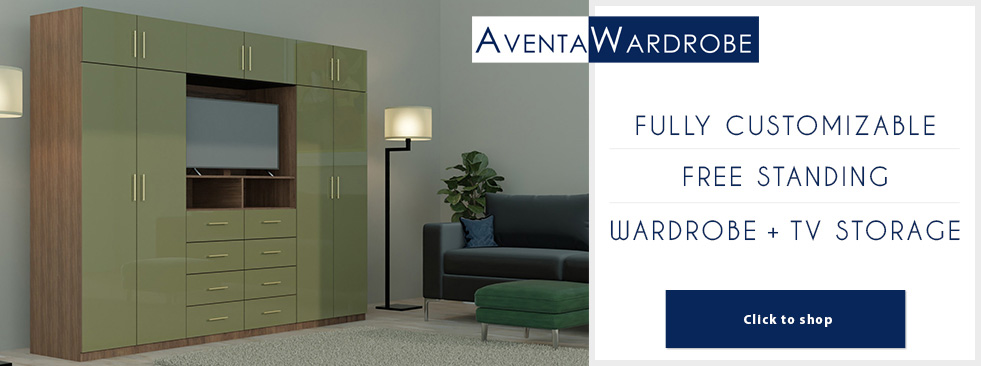 Aventa Bedroom Wardrobes With TV Space
