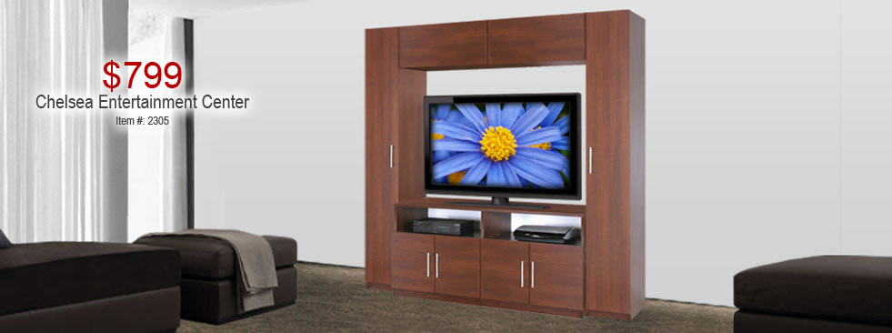 $599 Entertainment Wall Unit Cabinets
