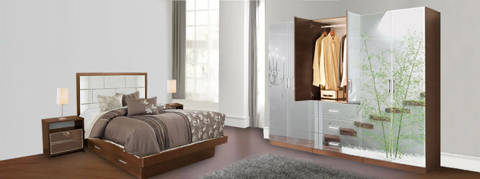 Mirror Clothing Wardrobe Armoire